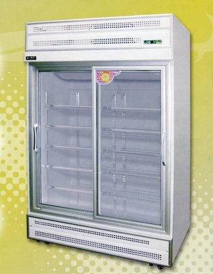 鑫忠廚房設備-餐飲設備:滑道型雙門玻璃冷藏展示冰箱-賣場有水槽-快速爐-工作台-西餐爐