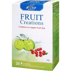 芳第《High Tea》水果草本茶-蔓越莓蘋果 2g*20入/盒--【良鎂咖啡精品館】