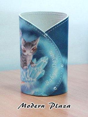 達洋貓(DAYAN) 藍色皮革筆筒-全新正品、限量販售!