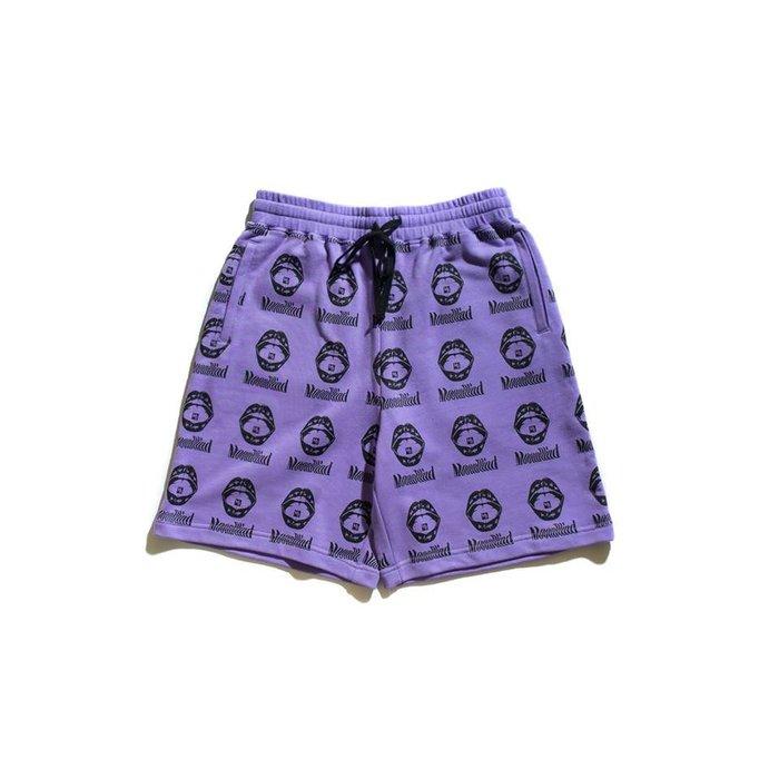 { POISON } MOONBLIND PURPLE FANSTASY SHORTS 紫色幻想 滿版短棉褲