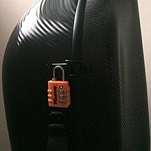 Master Lock 海關鎖 密碼鎖迷你 TSA行李箱掛鎖 登機箱鎖 托運行李箱掛鎖 防盜鎖 (橙色)