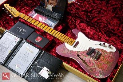 限定版Fender C/S 50's Thinline Telecaster Relic-Pink Paisley