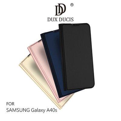 *庫米*DUX DUCIS SAMSUNG Galaxy A40s 奢華簡約側翻皮套 可站立 可插卡 保護套
