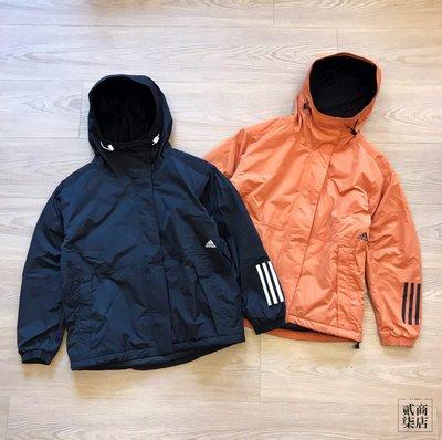 (貳柒商店) adidas S2S MID Jacket 女款 防風 刷毛 外套 黑 EH8619 橘 EH8617