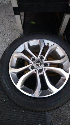 賓士 BENZ   W205 17吋 原廠鋁圈 米其林225/50/17落地輪胎