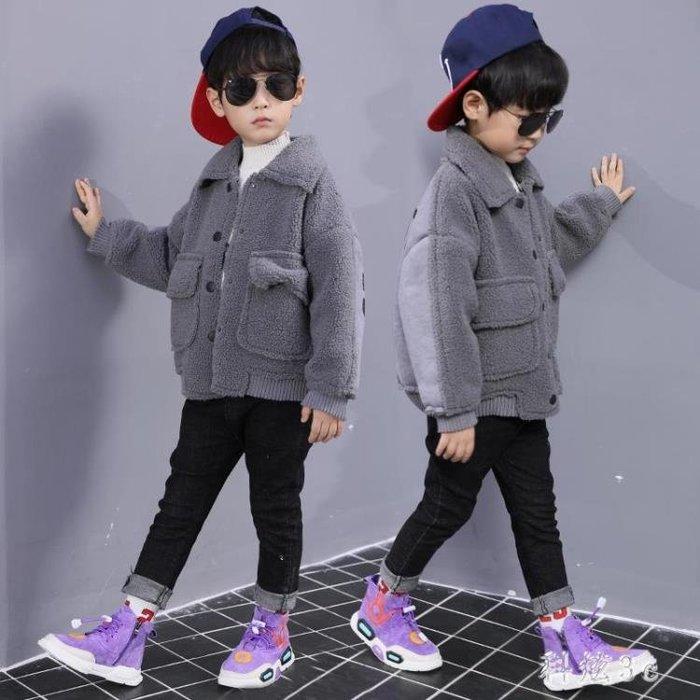 中大尺碼童裝 男童外套秋冬裝新款兒童加厚韓版風衣開衫帥氣外套潮衣 js12452