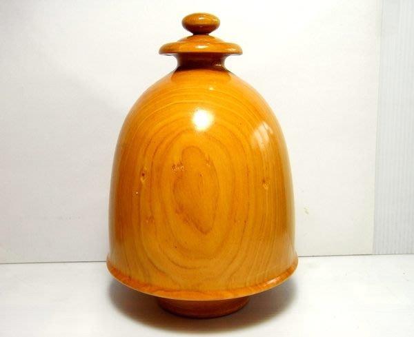 小風鈴~高18cm國寶級臺灣天然檜木原木木雕聞香擺飾瓶/聚寶盆/聚寶瓶 重:632g 扁柏
