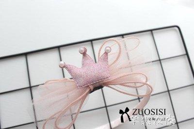 公主兒童發飾小女孩粉色皇冠頭箍發卡寶寶頭飾發箍