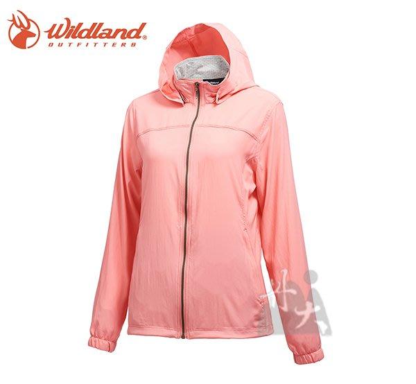 丹大戶外用品 【荒野Wildland】女彈性透氣抗UV輕薄外套 0A71905-28 珍珠粉