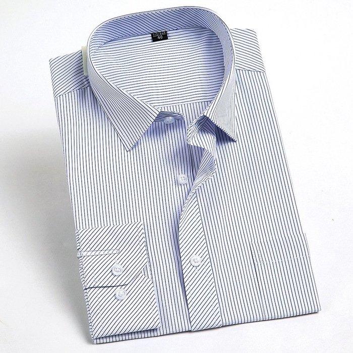 搭上襯衫2018長袖襯衫男式春裝新款中年商務修身免燙襯衣休閒百搭上衣特價 修身襯衫