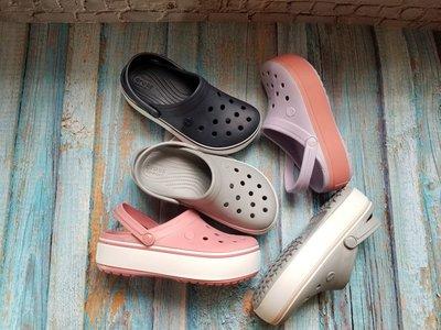 全館特惠 CROCS/卡駱馳 夏季新款 厚底卡駱班 增高鞋 洞洞鞋 女沙灘鞋涼拖鞋 沙灘鞋