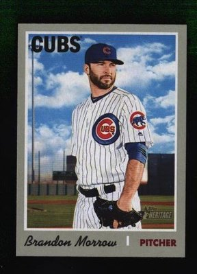 2019 Topps Heritage #375 Brandon Morrow - Chicago Cubs