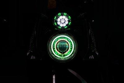 GAMMAS HID 台中廠 三葉YAMAHA BWS'X 大B 鐵男-9晶LED滿天星 光圈   鋼鐵人 小燈13