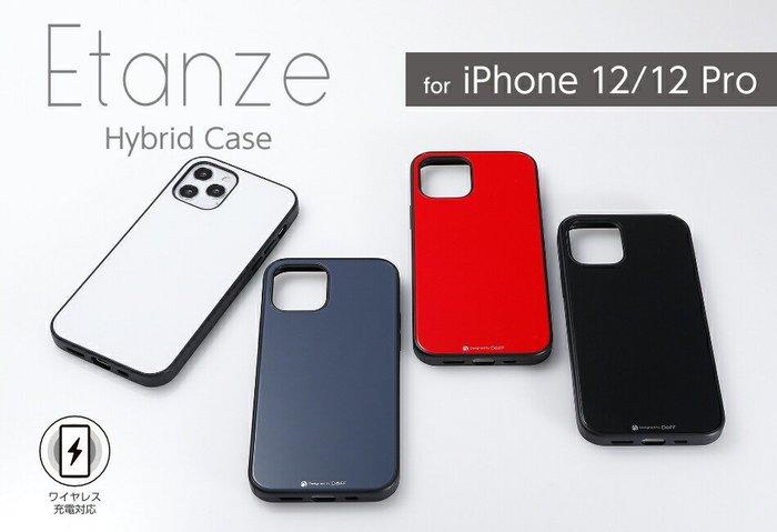 日本Deff Apple iPhone 12/12 Pro Etanze玻璃+PC+TPU三材質保護殼IPE20M