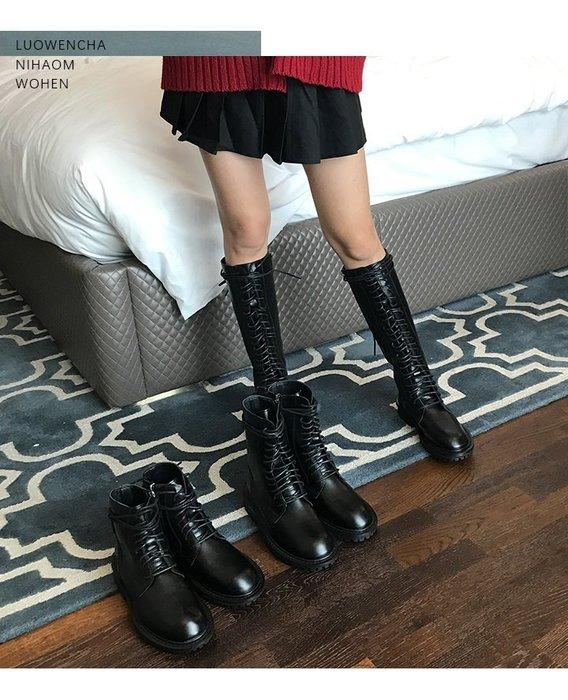 My fit guys 帥氣 個性 AN 英倫風 馬丁靴 機車靴 靴子 中筒 短靴 側邊拉鍊 鞋子 黑 預購