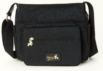 日本狗頭包 水洗 前拉鏈側背包 黑 全新未拆封 600元