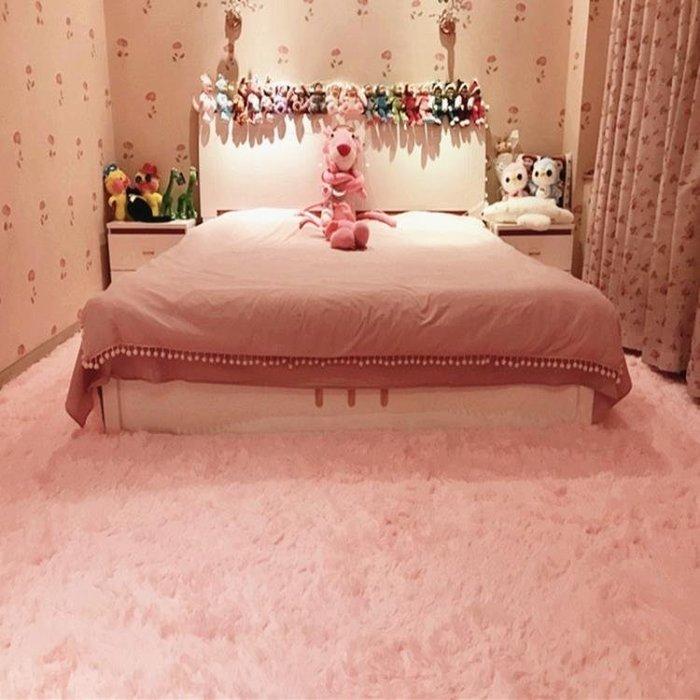 地毯客廳家用絲毛小地毯臥室床邊長方形沙發地墊可 YYS
