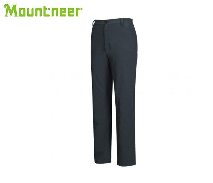 丹大戶外【Mountneer】山林休閒 男四向彈性保暖長褲 12S29-86 深灰藍