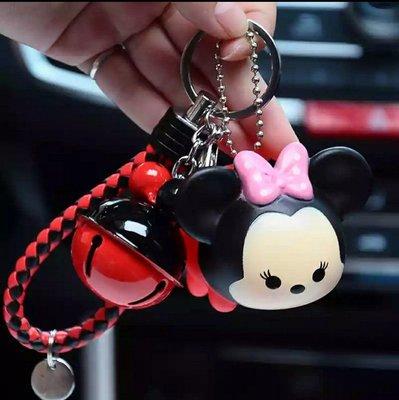 鑰匙圈、迪士尼TSUM TSUM Q版米妮公仔、米妮鑰匙圈