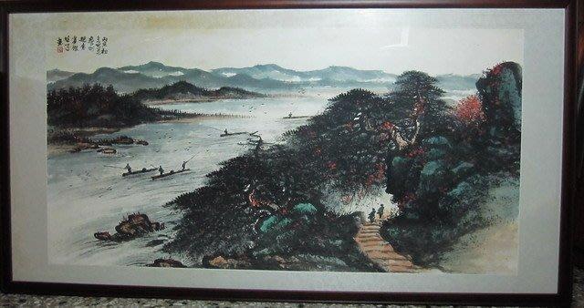 古藝閣 大陸早期前輩畫家李雄才大師真跡 作品名稱 山水