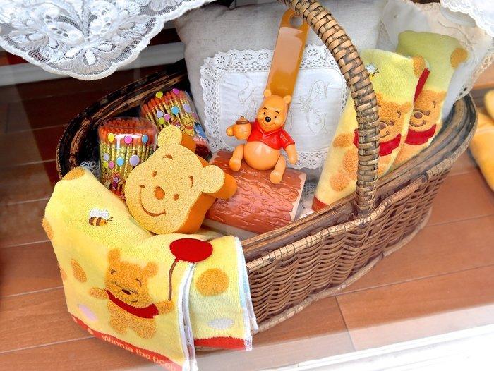 Ariel Wish-日本東京迪士尼Disney小熊維尼winnie-廚房碗盤清潔海綿不傷碗盤菜瓜布可耐熱--台灣製--