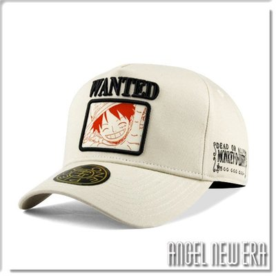 【ANGEL NEW ERA】ONE PIECE 航海王 懸賞單 魯夫 米白色 老帽 卡車帽 東映授權 限量帽 贈帽撐