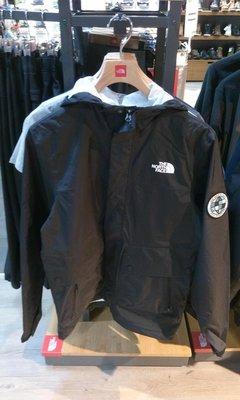 小阿姨shop The North Face北面男款黑色防風防水衝鋒衣