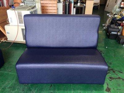 台北二手家具❋ZX328-1全新藍色雙人乳膠皮沙發❋ 雙人沙發 皮沙發 全新/庫存商品 二手家具 客廳家具 ktv沙發組