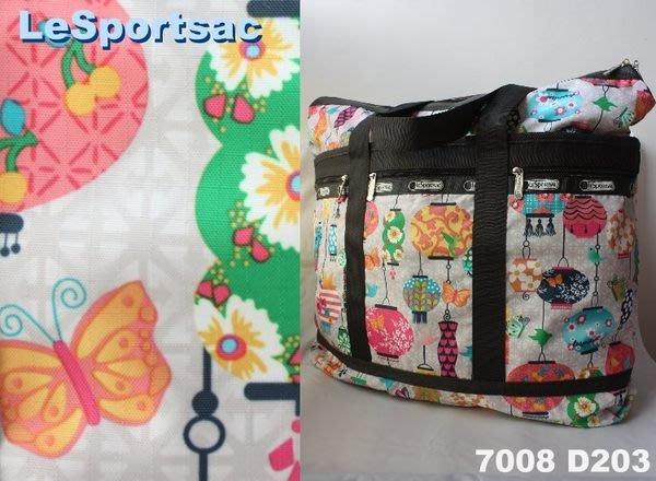 【LeSportsac】100% 全新正品 7008 D203 / LANTERNS 超大容量 側肩包 托特包 旅行袋 媽媽包