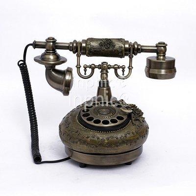 INPHIC-撥盤仿舊電話 座式復古電話機 創意家用商務禮品座機