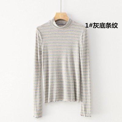 原單小確幸~美國進口 超軟Q 軟綿綿 條紋立領彈性針織衫S-L //現貨特價299 原價900