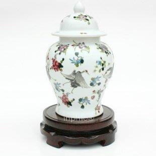 INPHIC-ZF-D070 景德鎮 夜光瓶 鶴舞將軍陶瓷花瓶 家居裝飾擺飾