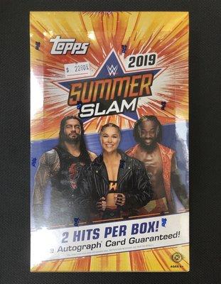 WWE 2019 Topps WWE Summer Slam 美國職業 摔角 收藏卡 卡盒 盒卡