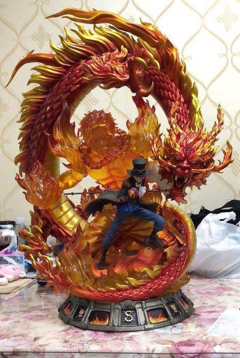 【預購】GK定制,海賊王薩博模型,火龍艾斯薩博GK手辦雕像,航海王雕像 1/4尺寸,高65CM