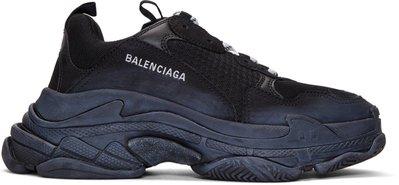 ~克莉絲丁時尚衣櫥~ Balenciaga Triple S 黑x黑 復古老爹鞋/厚底鞋