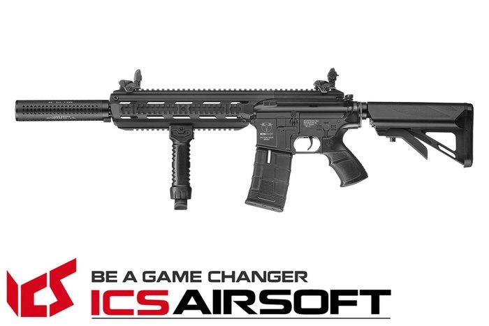 【翔準軍品AOG】ICS CXP-16 長版(黑)海豹托 電動槍 生存遊戲 ICS-238