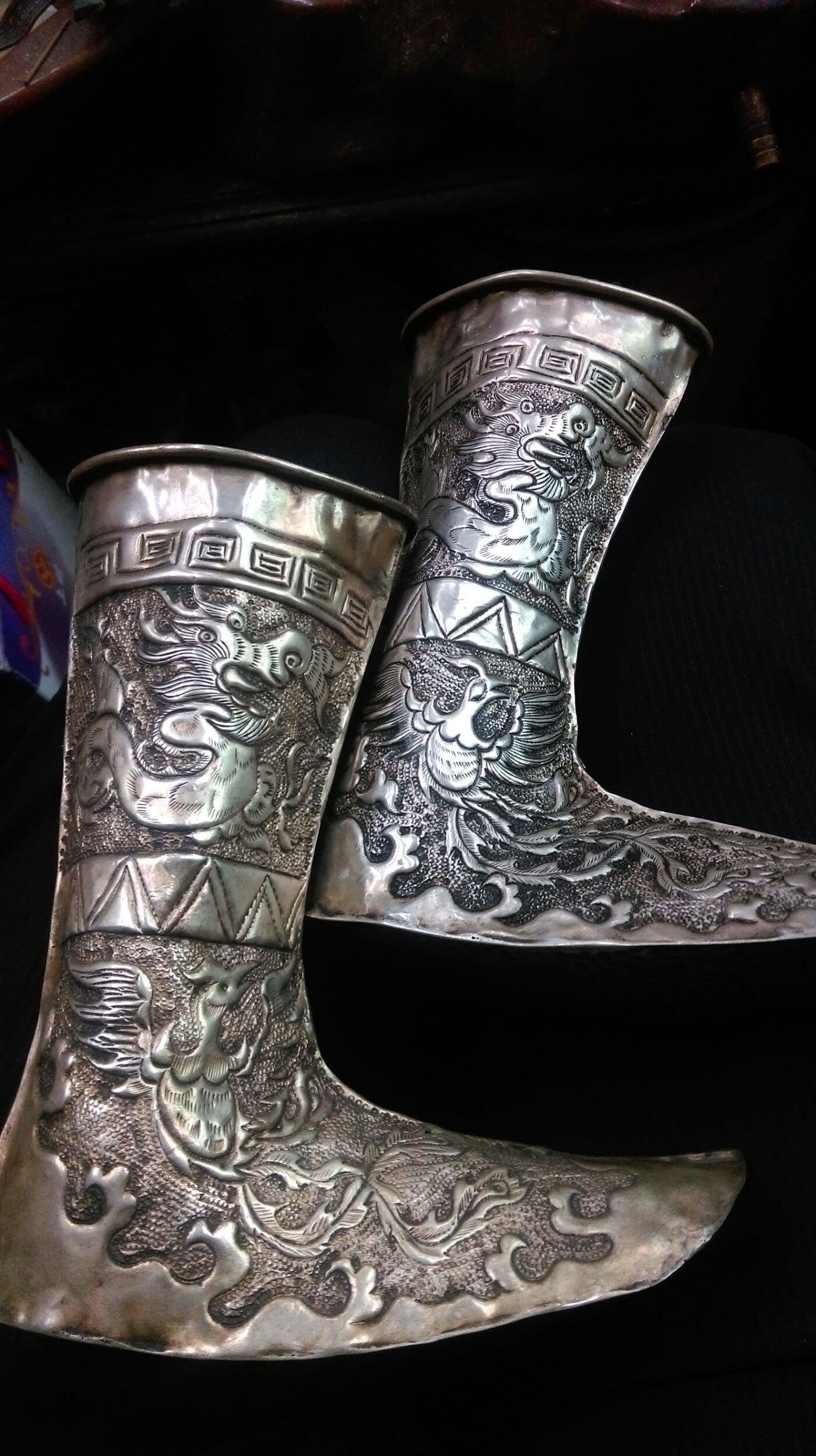 大草原典藏,清代老銀鞋,大特價一天