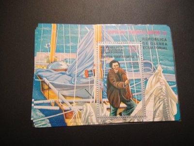 【大三元】各國專題郵票-交通類-#9 船~小全張1張~銷戳票(盒13)