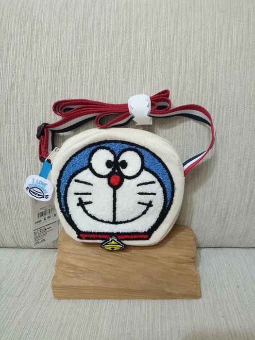 天使熊雜貨小舖~日本帶回哆啦A夢 Im DORAEMO斜挎包  全新現貨