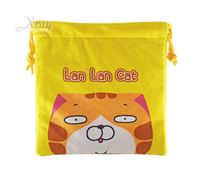 X射線【C539138】白爛貓 絨毛束口袋,縮口袋/防塵袋/置物袋/旅行/收納袋/整理袋/束口袋/化妝包