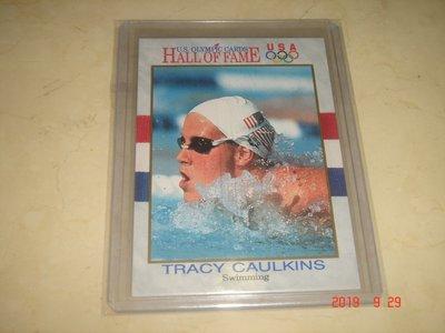 游泳運動員 美國隊 Tracy Caulkins 1991 Impel 奧運美國隊 #45 球員卡