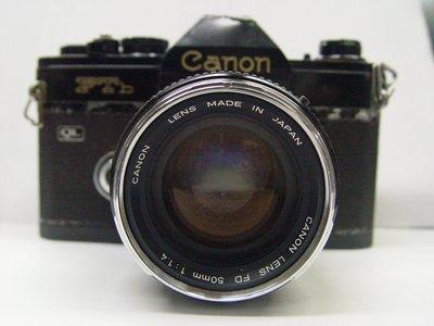 CANON FTb QL 單眼相機黑機身含鏡頭FD 50/1.4 B 人像鏡頭 SIGMA 70~210 鏡頭
