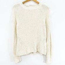 【艾.莉娜】GAP 連袖織花 下擺加寬 長袖針織衫 S號 ~ 2F14