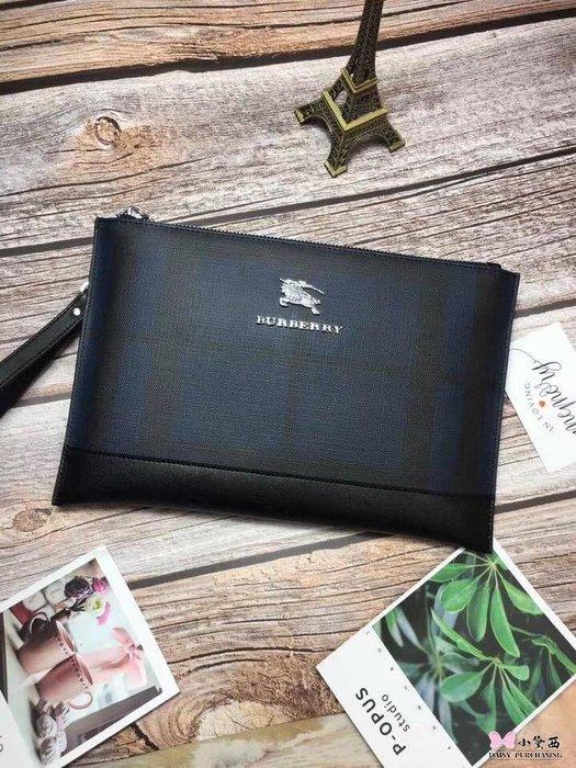 【小黛西歐美代購】Burberry 巴寶莉  經典手拿包 戰馬LOGO 英倫時尚 美國outlet代購