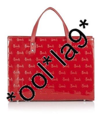 Harrods 手挽袋 100%正貨 有收據 直接從英國入口 紅色長形 壓紋由$650減至$450