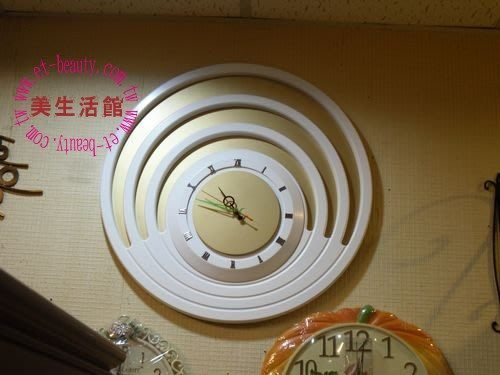 美生活館--限量商品-- 旭日東昇白金雙色造型時鐘掛鐘/擺鐘-特優2680元含運