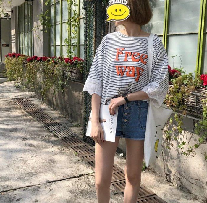 貝希小鋪*韩版優質純棉短袖時尚t/0133218