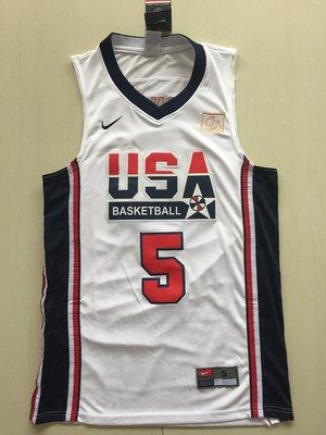 NBA 球衣 球員版 夢幻1隊 復刻款 #5 5號 羅賓森  藍 白 2色 ROBINSON 免運 買二送一拉