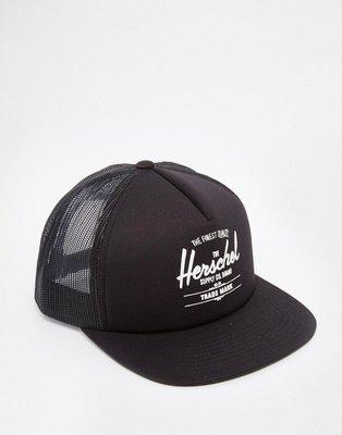 Herschel Supply Co Whaler Trucker Cap 黑色 休閒 可調 網帽 棒