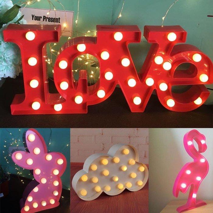 婚慶裝飾燈串火焰鳥燈彩燈閃燈LOVE少女心浪漫掛燈創意臥室字母燈